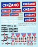 devCS132    Decal  Cinzano   e varie  1960