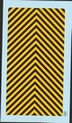 dev237 Decals strisce protez.civile-chevrons jaune  et noirs