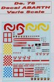 de78 -Decal ABARTH  scala 1/43 1/24 1/18 1950 > 2007