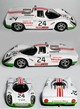 Axek026   Porsche 907C  Wicky Racing Team 18° LM 1972 