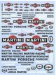 dcd018   decal assortite Martini racing 1970. 2000