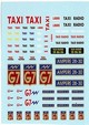 dev291   Decal assortita per  Taxi  