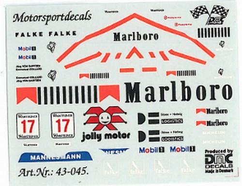 dmc43045 porsche 911 gt1 marlb gt cup 1997 campionatura decals varie. Black Bedroom Furniture Sets. Home Design Ideas